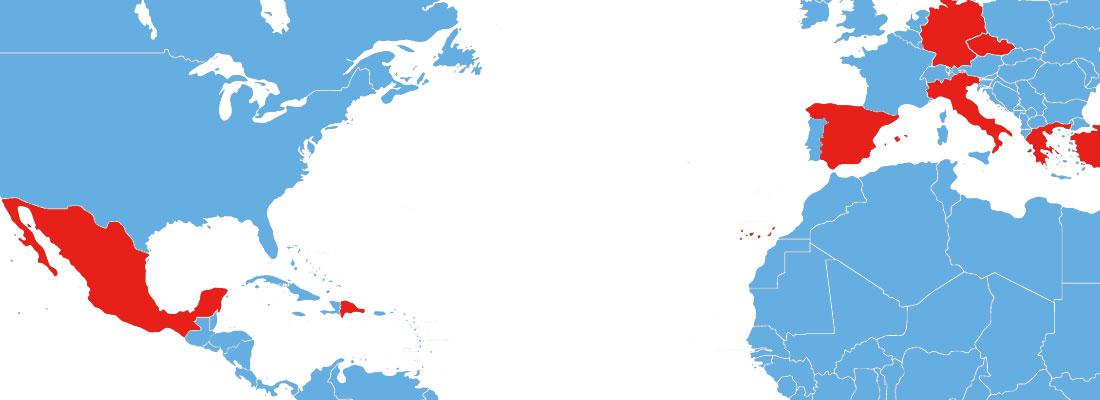 4 – MapaMundi Azul-Rojo